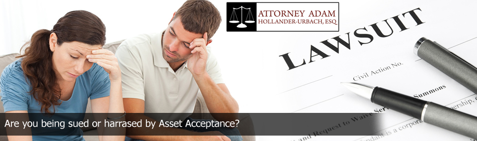 collection defense attorney if sued or harrased by asset acceptance