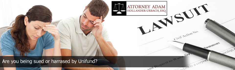 collection defense attorney if sued or harrased by unifund